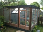 Sonya's outdoor housing with integrated greenhouse - click to enlarge