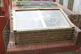 Cold frame with heating & run for hatchlings - click to enlarge